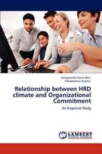 Relationship between HRD climate and Organizational Commitment