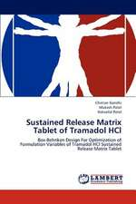 Sustained Release Matrix Tablet of Tramadol HCl