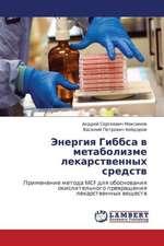 Energiya Gibbsa v metabolizme lekarstvennykh sredstv