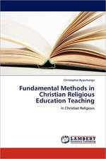 Fundamental Methods in Christian Religious Education Teaching