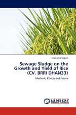 Sewage Sludge on the Growth and Yield of Rice (CV. BRRI DHAN33)