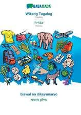 BABADADA, Wikang Tagalog - Hebrew (in hebrew script), biswal na diksyunaryo - visual dictionary (in hebrew script)