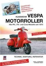 Klassische Vespa Motorroller