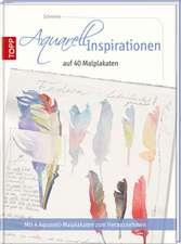 Aquarell Inspirationen auf 40 Malplakaten