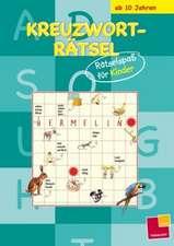 Kreuzworträtsel: Rätselspaß für Kinder (blau)