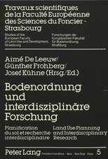Bodenordnung Und Interdisziplinaere Forschung