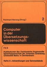 Computer in Der Uebersetzungswissenschaft