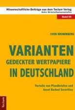 Varianten gedeckter Wertpapiere in Deutschland