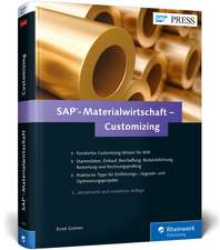 SAP-Materialwirtschaft - Customizing