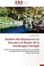 Gestion Des Ressources En Eau Dans Le Bassin de La Sandougou-Senegal