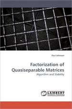 Factorization of Quasiseparable Matrices