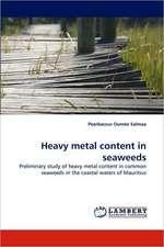 Heavy metal content in seaweeds