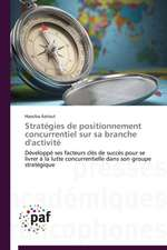 Stratégies de positionnement concurrentiel sur sa branche d'activité
