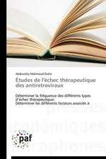 Études de l'échec thérapeutique des antiretroviraux