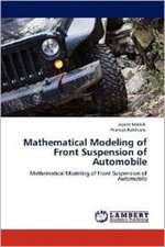 Mathematical Modeling of Front Suspension of Automobile