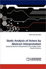 Static Analysis of Actors by Abstract Interpretation