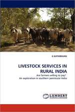 Livestock Services in Rural India
