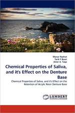 Chemical Properties of Saliva, and it's Effect on the Denture Base