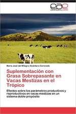 Suplementacion Con Grasa Sobrepasante En Vacas Mestizas En El Tropico:  Binomio Fundamental En Algunas Escuelas Mexicanas