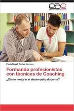 Formando Profesionistas Con Tecnicas de Coaching:  Representaciones Culturales