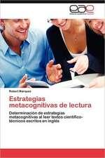 Estrategias Metacognitivas de Lectura:  Germinacion y Establecimiento