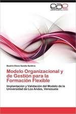 Modelo Organizacional y de Gestion Para La Formacion Flexible:  Virtudes, Falencias y Nuevos Desafios
