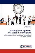Faculty Management Practices in Universities