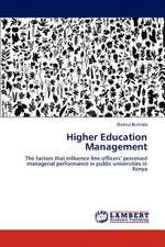 Higher Education Management