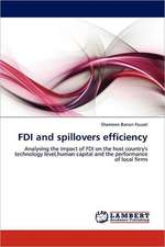 FDI and spillovers efficiency