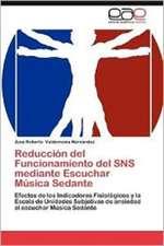 Reduccion del Funcionamiento del Sns Mediante Escuchar Musica Sedante