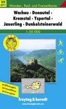 Wachau, Welterbesteig, Nibelungengau, Kremstal, Yspertal, Dunkelsteiner Wald 1 : 50 000. WK 071