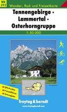 Tennengebirge, Lammertal, Gosaukamm 1 : 50 000. WK 392