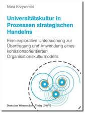 Universitätskultur in Prozessen strategischen Handelns