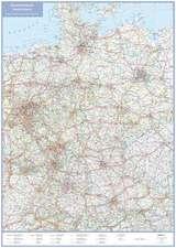 Übersichtskarte Deutschland 1 : 1 000 000. Plano