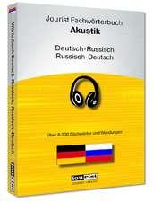 Jourist Fachwörterbuch Akustik Russisch-Deutsch, Deutsch-Russisch