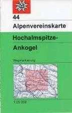 DAV Alpenvereinskarte 44 Ankogel - Hochalmspitze 1 : 25 000 Wegmarkierung