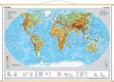 Die Erde, physisch 1 : 60 000 000. Wandkarte Mini-Format