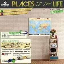 Welt Places 1 : 51 000 000 beleistet mit Magnetkugeln