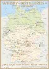 Whisky Distilleries Germany Tasting Map 34 x 24cm