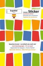 mindmemo Vokabel Sticker - Grundwortschatz Spanisch / Deutsch - 280 Vokabel Aufkleber - Zusammenfassung