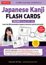 Japanese Kanji Flash Cards Kit Volume 2: Kanji 201-400: JLPT Intermediate Level: Learn 200 Japanese Characters with Native Speaker Audio, Sample Sentences & Compound Words