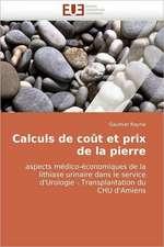 Calculs de coût et prix de la pierre