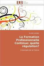 La Formation Professionnelle Continue:  Quelle Regulation?
