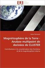 Magnetosphere de La Terre - Analyse Multipoint de Donnees de Cluster:  Crise Japonaise Et Crise Des Dogmes