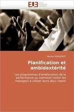 Planification et ambidextérité