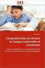Comprehension En Lecture En Langue Maternelle Et Immersion:  Crise Japonaise Et Crise Des Dogmes II