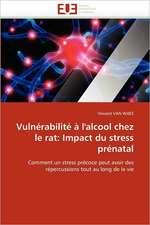 Vulnérabilité à l'alcool chez le rat: Impact du stress prénatal