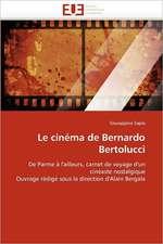 Le Cinema de Bernardo Bertolucci:  Reparametrage de Stics