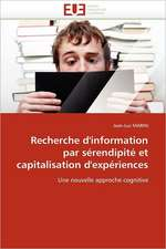 Recherche D'Information Par Serendipite Et Capitalisation D'Experiences:  Cas de Amasco