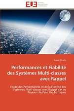 Performances Et Fiabilite Des Systemes Multi-Classes Avec Rappel